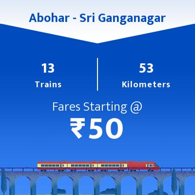 13 Abohar to Sri Ganganagar Train Time Table, Seat Availability