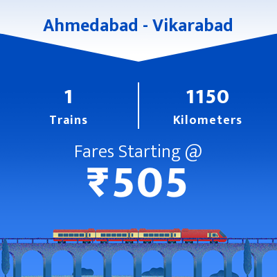 Ahmedabad To Vikarabad Trains