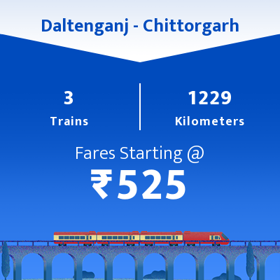Daltenganj To Chittorgarh Trains
