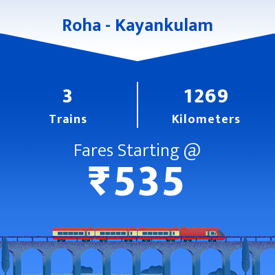Roha To Kayankulam Trains