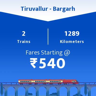 Tiruvallur To Bargarh Trains