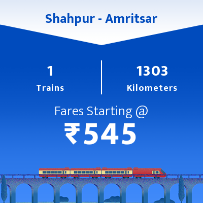 Shahpur To Amritsar Trains
