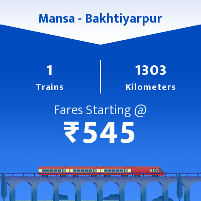 Mansa To Bakhtiyarpur Trains