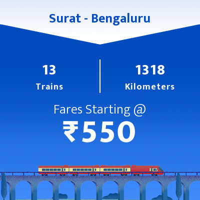 Surat To Bengaluru Trains