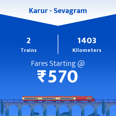 Karur To Sevagram Trains