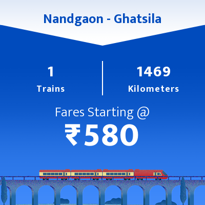 Nandgaon To Ghatsila Trains