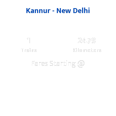 Kannur To New Delhi Trains