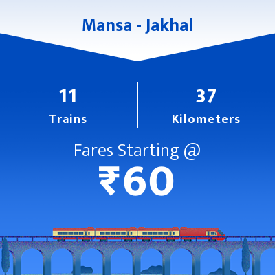Mansa To Jakhal Trains