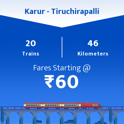 Karur To Tiruchirapalli Trains
