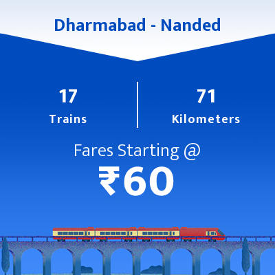 Dharmabad To Nanded Trains