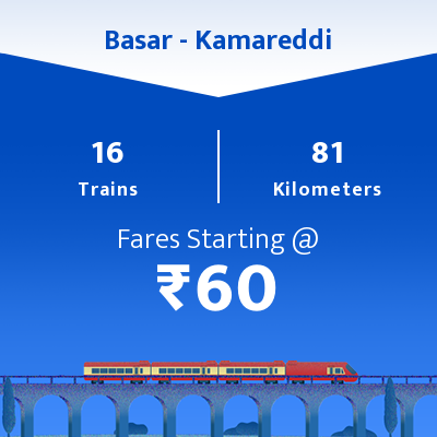 Basar To Kamareddi Trains