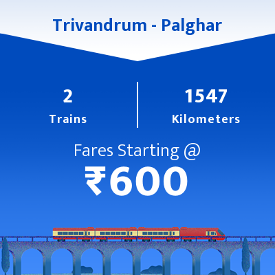 Trivandrum To Palghar Trains