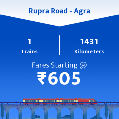 Rupra Road To Agra Trains
