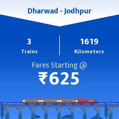 Dharwad To Jodhpur Trains