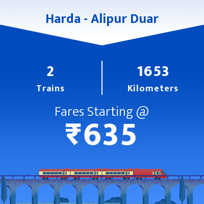Harda To Alipur Duar Trains