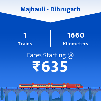 Majhauli To Dibrugarh Trains