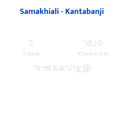 Samakhiali To Kantabanji Trains