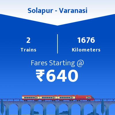 2 Solapur to Varanasi Train Time Table, Seat Availability