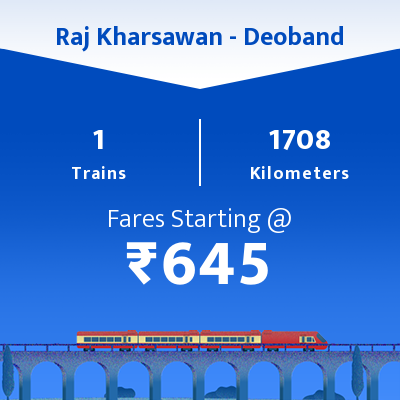 Raj Kharsawan To Deoband Trains