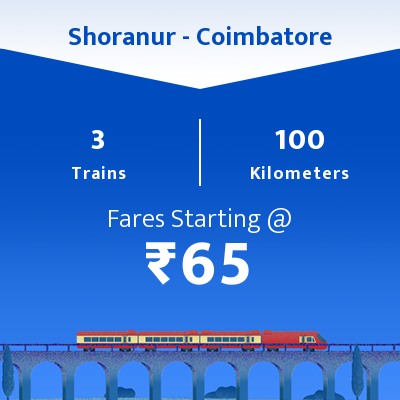 Shoranur To Coimbatore Trains