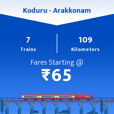 Koduru To Arakkonam Trains