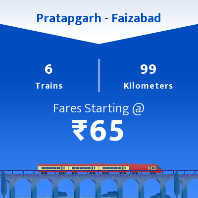Pratapgarh To Faizabad Trains