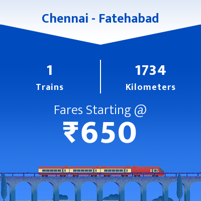 Chennai To Fatehabad Trains