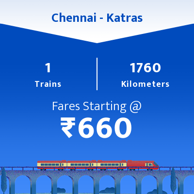 Chennai To Katras Trains