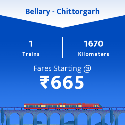 Bellary To Chittorgarh Trains