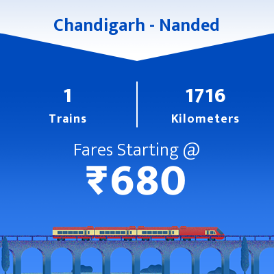 Chandigarh To Nanded Trains
