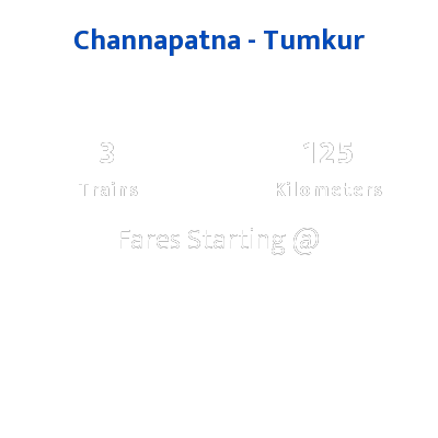 Channapatna To Tumkur Trains