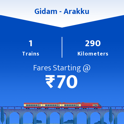 Gidam To Arakku Trains