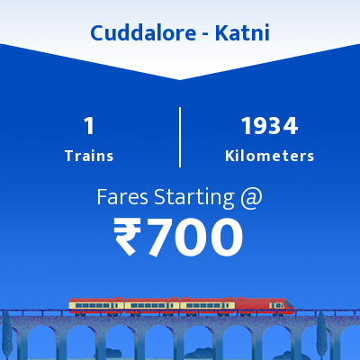 Cuddalore To Katni Trains