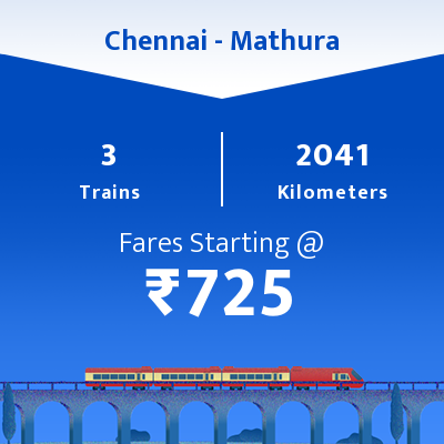 Chennai To Mathura Trains