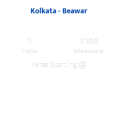 Kolkata To Beawar Trains