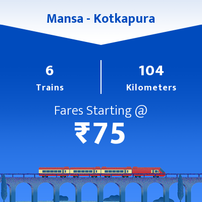 Mansa To Kotkapura Trains