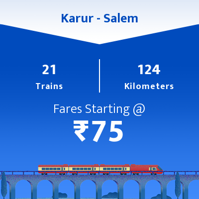 Karur To Salem Trains