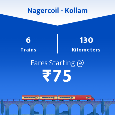 Nagercoil To Kollam Trains