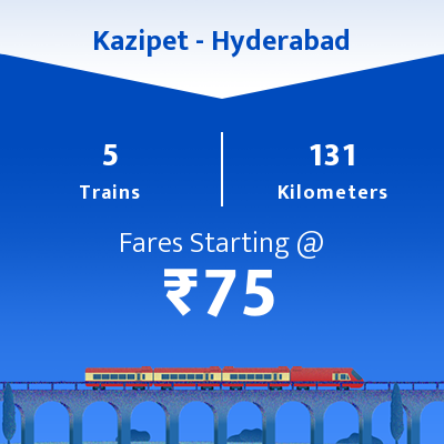 Kazipet To Hyderabad Trains