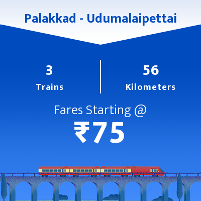 Palakkad To Udumalaipettai Trains