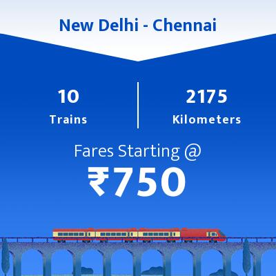 10 New Delhi to Chennai Train Time Table, Seat Availability, Route