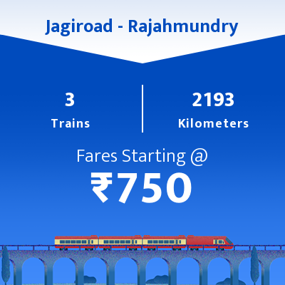 Jagiroad To Rajahmundry Trains