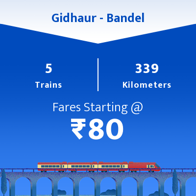 Gidhaur To Bandel Trains