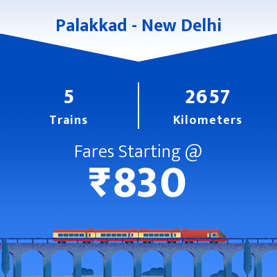 Palakkad To New Delhi Trains