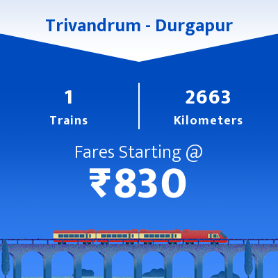Trivandrum To Durgapur Trains