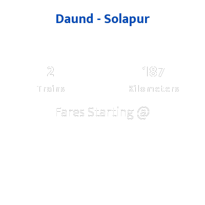 Daund To Solapur Trains