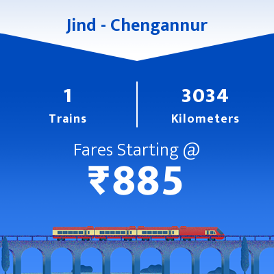 Jind To Chengannur Trains