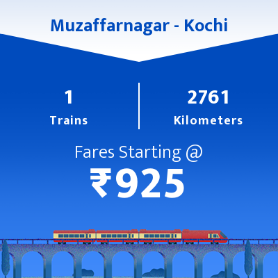 Muzaffarnagar To Kochi Trains