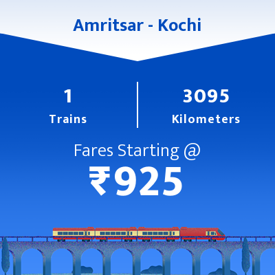 Amritsar To Kochi Trains
