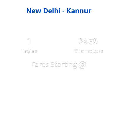 New Delhi To Kannur Trains